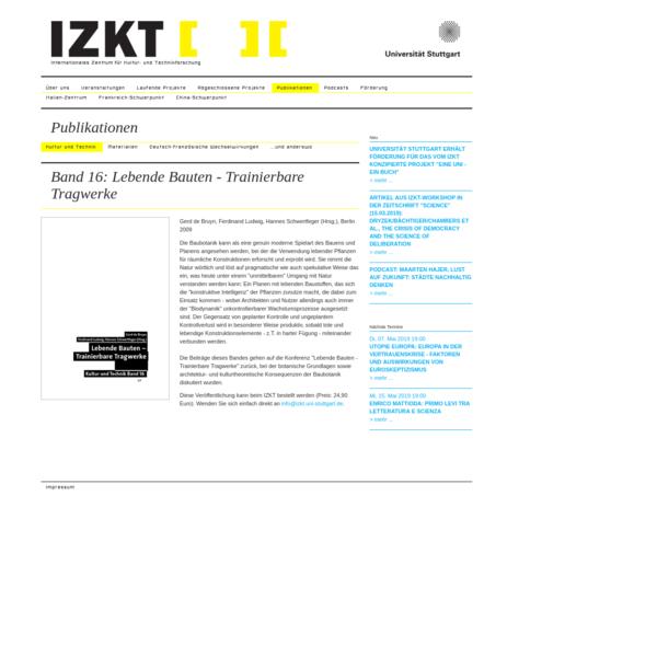 Kultur und Technik - IZKT der Universität Stuttgart
