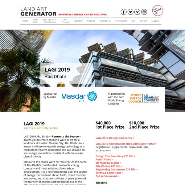 Land Art Generator: LAGI 2019 Abu Dhabi