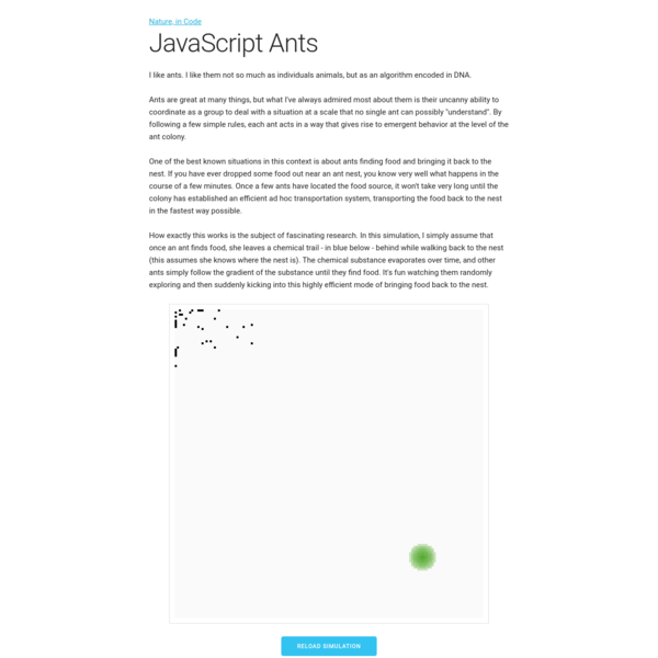 A Javascript Implementation of Ants