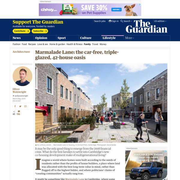 Marmalade Lane: the car-free, triple-glazed, 42-house oasis
