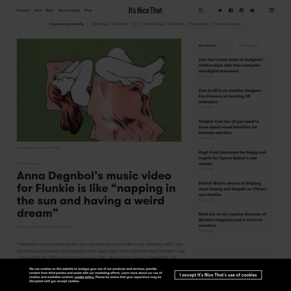 """Anna Degnbol's music video for Flunkie is like """"napping in the sun and having a weird dream"""""""