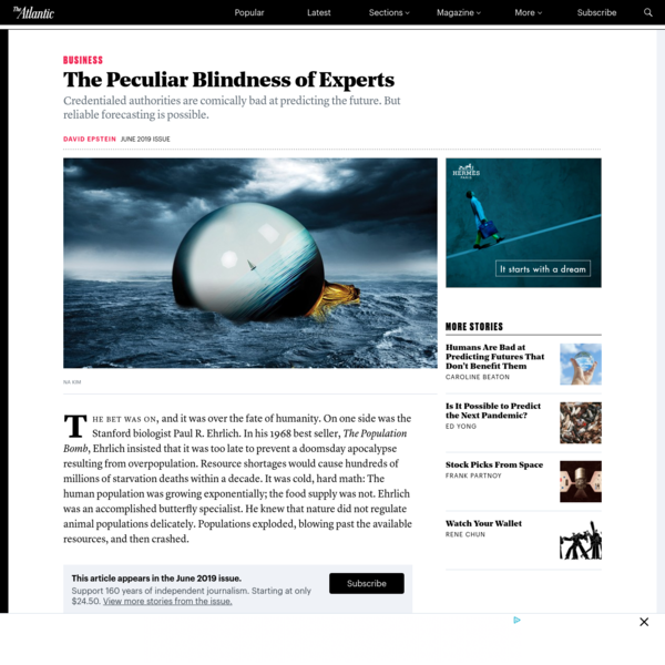 The Peculiar Blindness of Experts