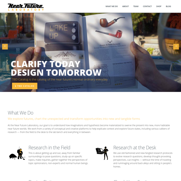 Near Future Laboratory | Clarify today, design tomorrow