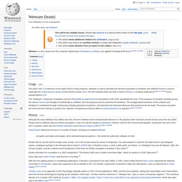 Wetware (brain) - Wikipedia