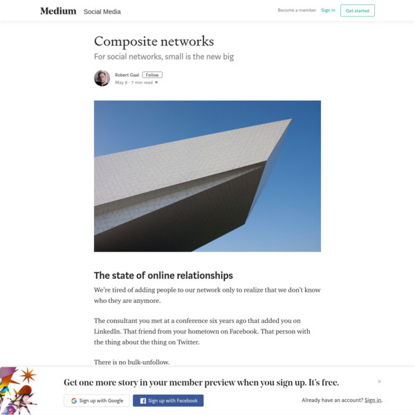 Composite networks