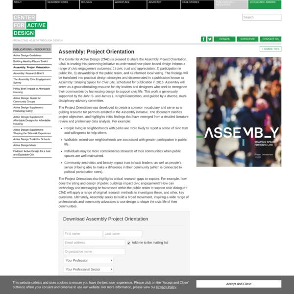 Assembly: Project Orientation