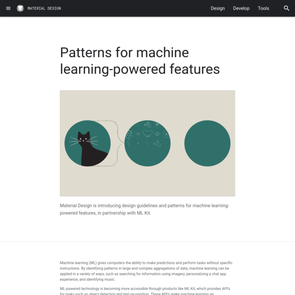 Patterns for machine learning-powered features