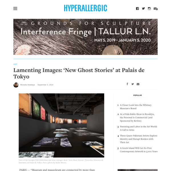 Lamenting Images: 'New Ghost Stories' at Palais de Tokyo