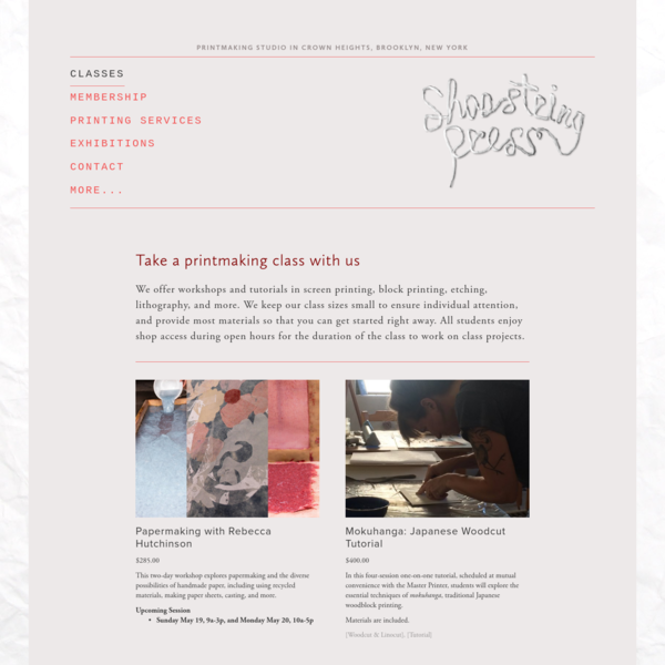 Classes and Tutorials at Shoestring Press | Shoestring Press