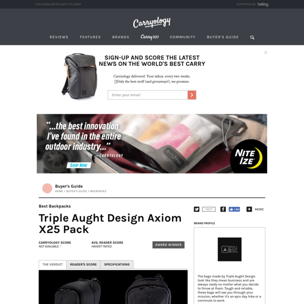 Triple Aught Design Axiom X25 Pack - Carryology - Exploring better ways to carry