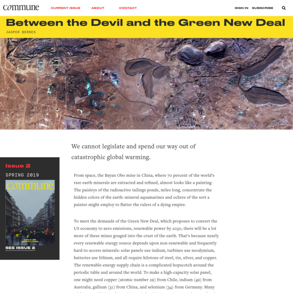 Between the Devil and the Green New Deal * Commune