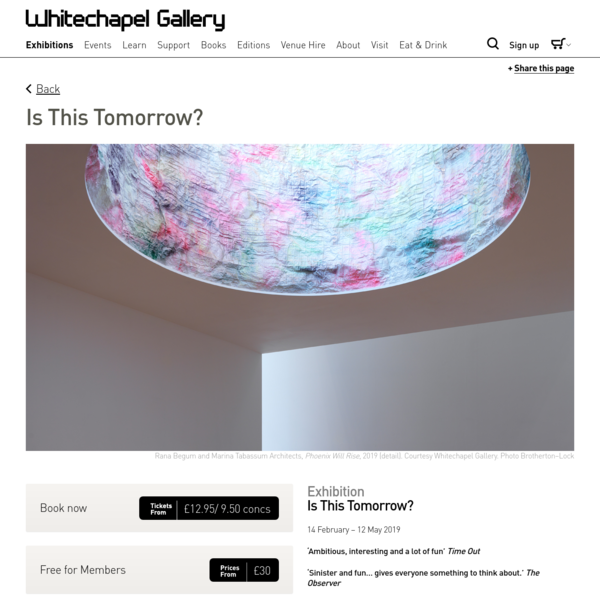 Is This Tomorrow? - Whitechapel Gallery