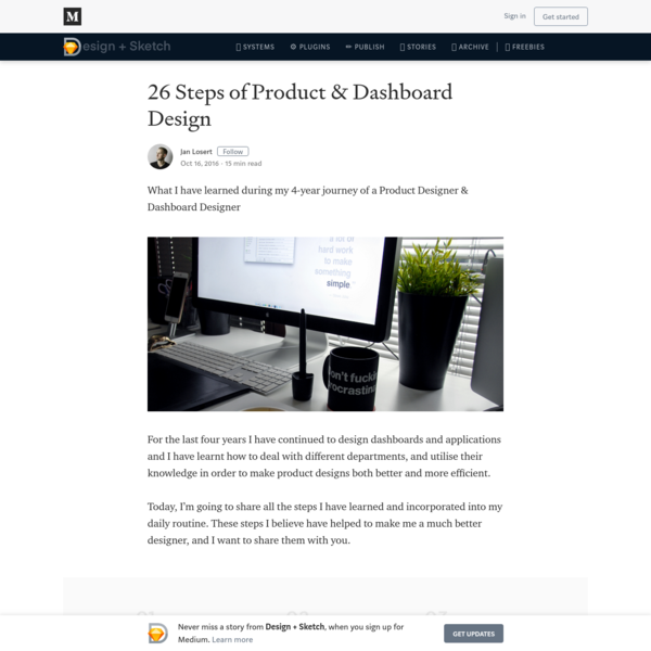 26 Steps of Product & Dashboard Design