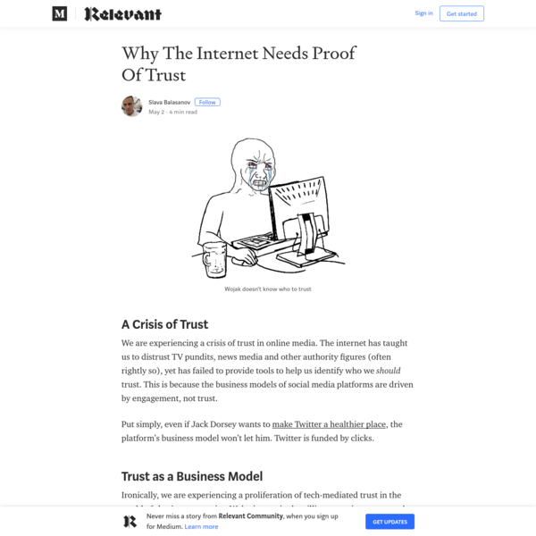 Why The Internet Needs Proof Of Trust