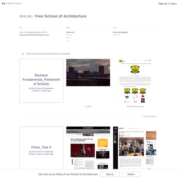 Are.na / Free School of Architecture