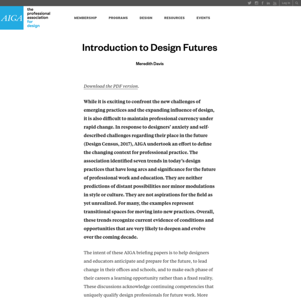 Introduction to Design Futures