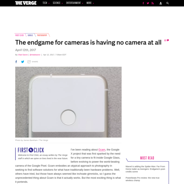 The endgame for cameras is having no camera at all