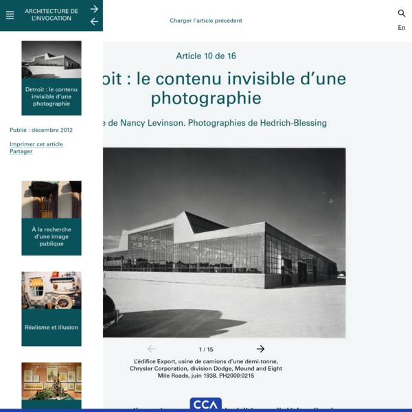 Detroit : le contenu invisible d'une photographie