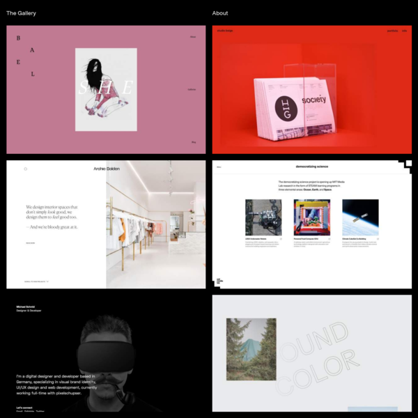 The Gallery - Minimal Websites