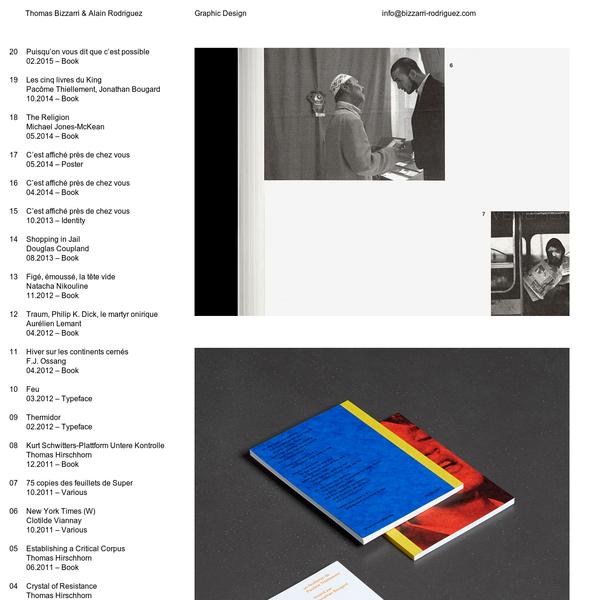 Thomas Bizzarri & Alain Rodriguez - Graphic Design