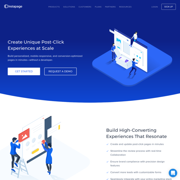 The Instapage Post-Click Landing Page Builder