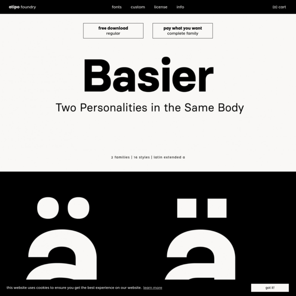 Basier font-family by atipo®