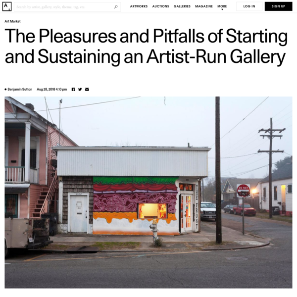 The Pleasures and Pitfalls of Starting an Artist-Run Gallery