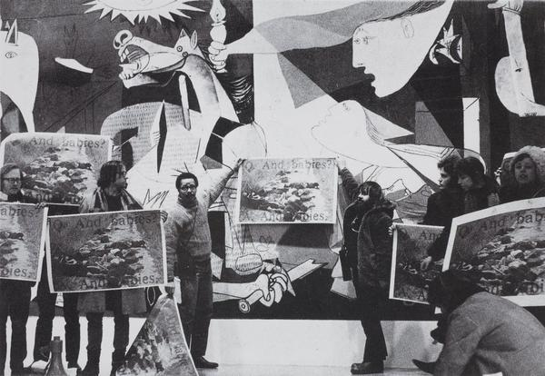 Art Workers Coalition demonstration at the Museum of Modern Art, New York, 1970