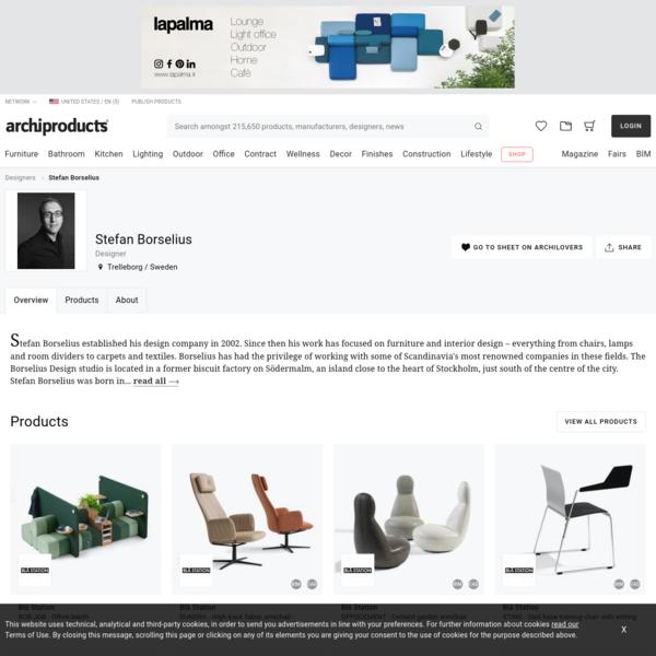Stefan Borselius, Designer   Archiproducts