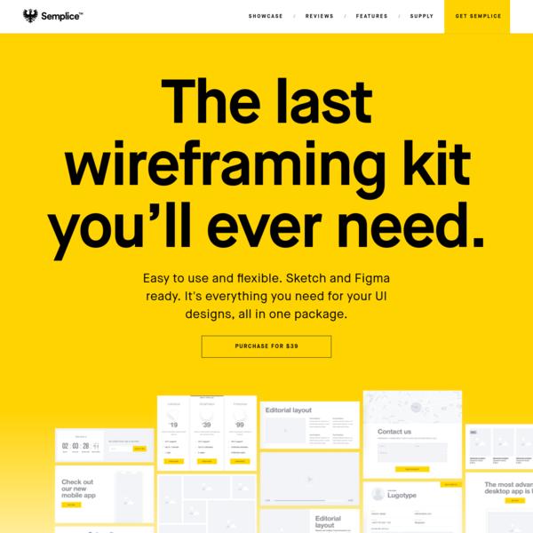 Semplice Supply - UI Wireframe Kit