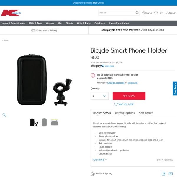 Bicycle Smart Phone Holder   Kmart