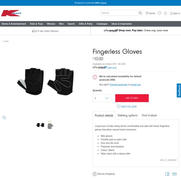 Fingerless Gloves   Kmart