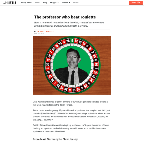 The professor who beat the roulette table