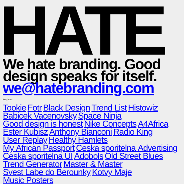 Hate Branding – Michal Sloboda