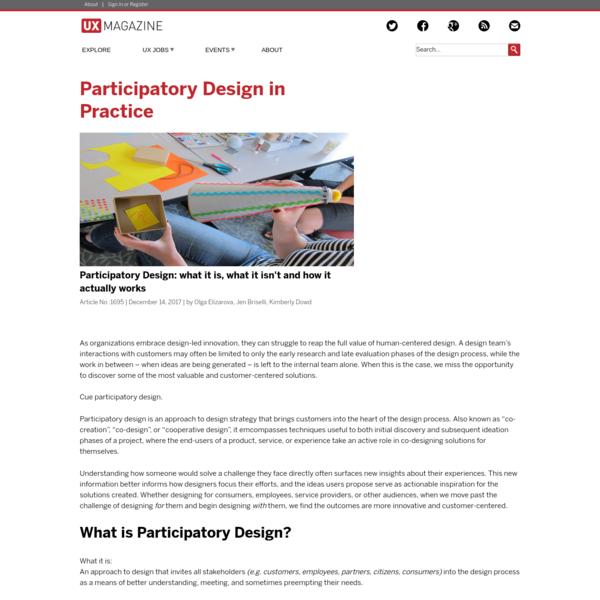 Participatory Design in Practice | UX Magazine