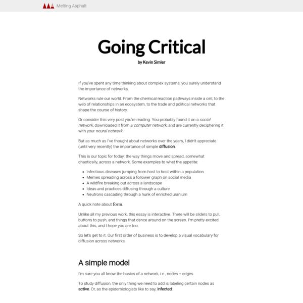 Going Critical — Melting Asphalt