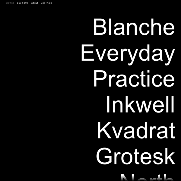 Stockholm-Amsterdam based type foundry founded in 2014.