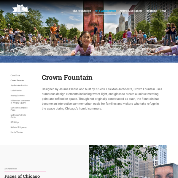 Crown Fountain | Millennium Park Foundation