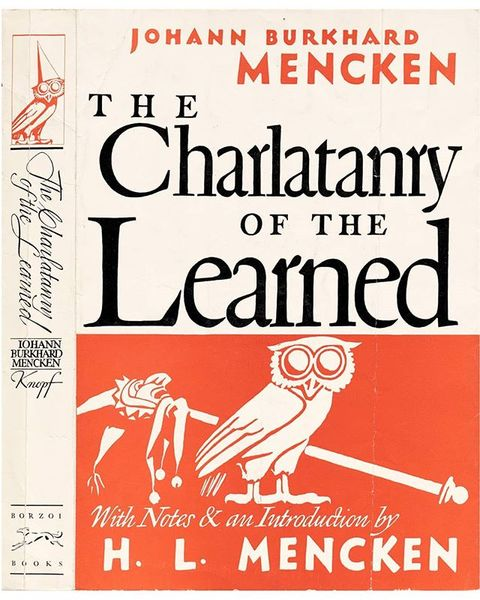 W. A. Dwiggins, cover for The Charlatanry of the Learned, Alfred Knopf. See more of our book cover collection in our Salon o...