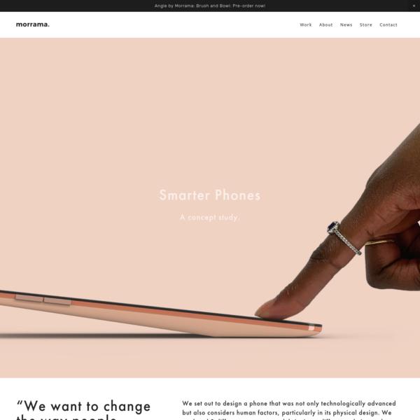 Phone Project - Morrama | Product Design | Industrial Design | London | Designer