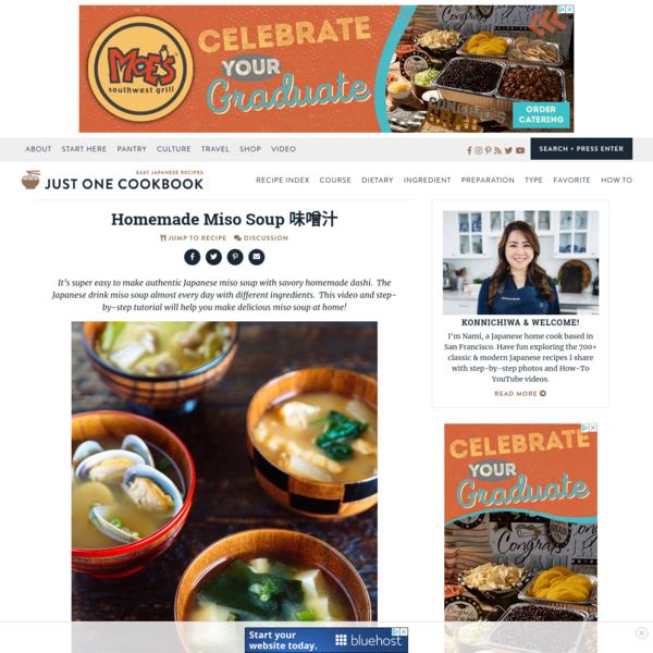 Homemade Miso Soup 味噌汁 * Just One Cookbook
