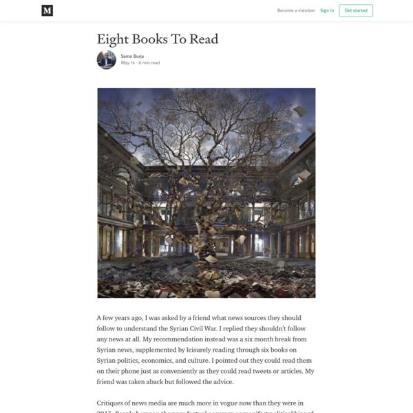 Eight Books To Read – Samo Burja – Medium