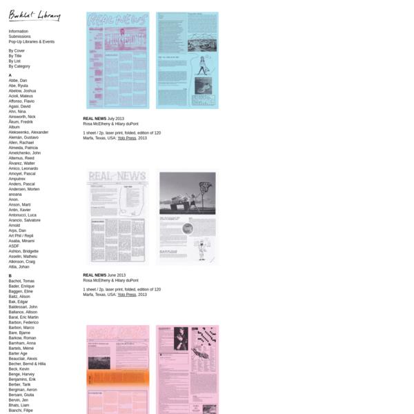 Booklet Library - McElheny, Rosa
