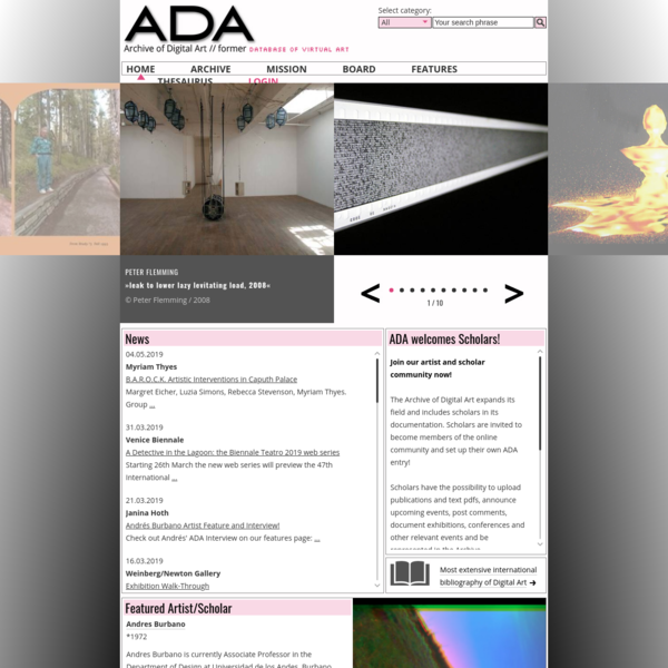 Home - ADA | Archive of Digital Art