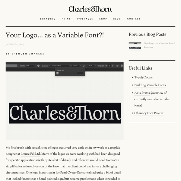 Your Logo... as a Variable Font?!