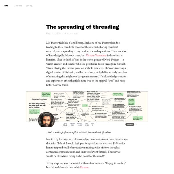 The spreading of threading