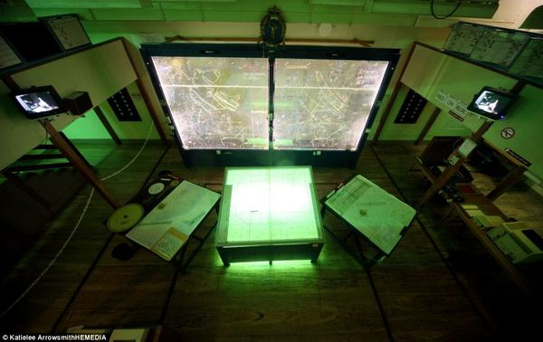 The Royal Observer Corps Operations Room, pictured above, is one of the many refurbished rooms in Scotland's Secret Bunker