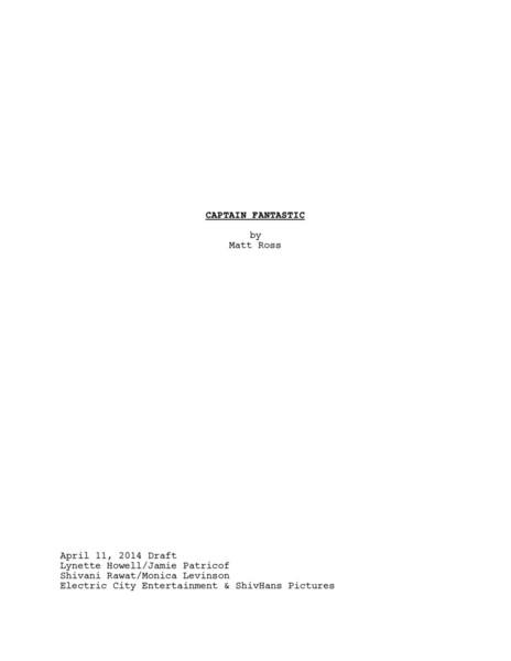 Captain Fantastic Script