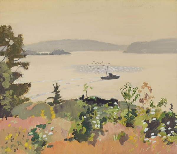 Fairfield Porter, Lobster Boat, Morning, 1970