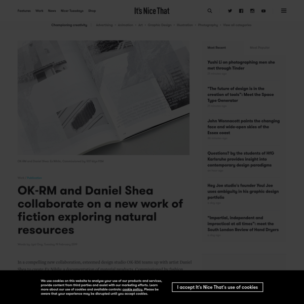 OK-RM and Daniel Shea collaborate on a new work of fiction exploring natural resources